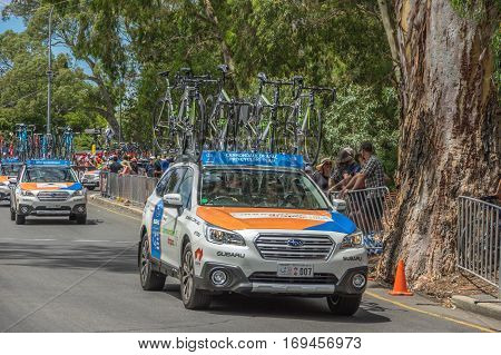 Adelaide South Australia 17 January 2017 The first stage of the Tour Down Under was grueling in the 40 degree Celsius heat
