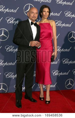 PALM SPRINGS - JAN 2:  Sir Ben Kingsley, Daniela Lavender at the Palm Springs International FIlm Festival Gala at Palm Springs Convention Center on January 2, 2017 in Palm Springs, CA