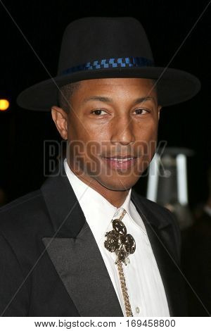PALM SPRINGS - JAN 2:  Pharrell Williams at the Palm Springs International FIlm Festival Gala at Palm Springs Convention Center on January 2, 2017 in Palm Springs, CA
