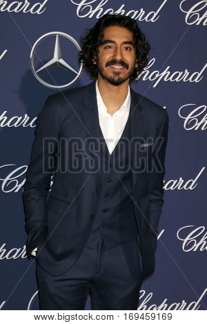 PALM SPRINGS - JAN 2:  Dev Patel at the Palm Springs International FIlm Festival Gala at Palm Springs Convention Center on January 2, 2017 in Palm Springs, CA