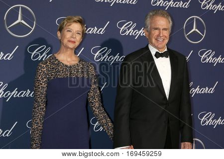 PALM SPRINGS - JAN 2:  Annette Bening, Warren Beatty at the Palm Springs International FIlm Festival Gala at Palm Springs Convention Center on January 2, 2017 in Palm Springs, CA