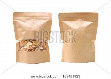 Paper bag with zip for keeping dry food / Using paper bag instead of plastic bag