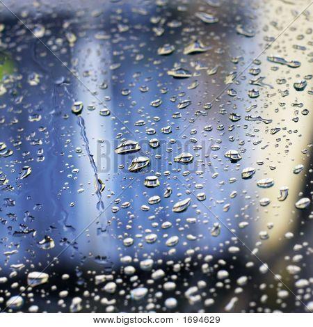 Rain Drops On Window (Shallow Dof)