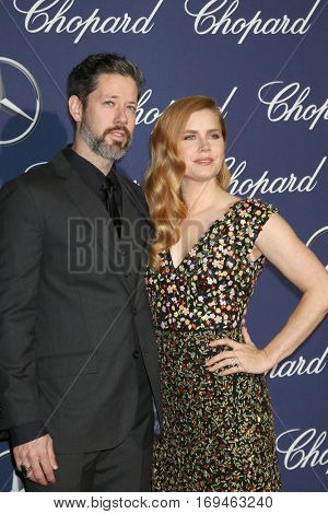PALM SPRINGS - JAN 2:  Darren Le Gallo, Amy Adams at the Palm Springs International FIlm Festival Gala at Palm Springs Convention Center on January 2, 2017 in Palm Springs, CA
