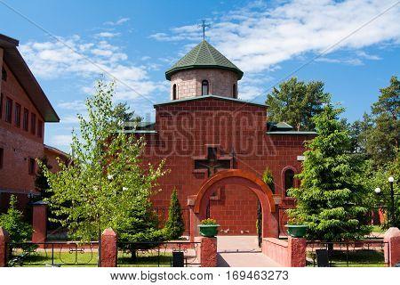 city of Vsevolozhsk, Leningrad region, Russia 10 june 2012: Armenian Apostolic Church of the blessed virgin Mary.