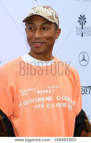 Palm Springs - JAN 3:  Pharrell Williams at the Variety's Creative Impact Awards and 10 Directors to Watch at the Parker Palm Springs on January 3, 2017 in Palm Springs, CA