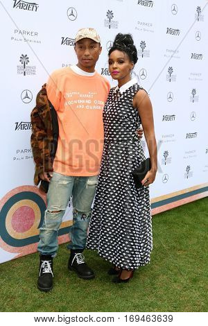 Palm Springs - JAN 3:  Pharrell Williams, Janelle Monae at the Variety's Creative Impact Awards and 10 Directors to Watch at the Parker Palm Springs on January 3, 2017 in Palm Springs, CA