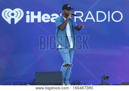 LAS VEGAS-SEP 24: Singer Jeremih performs in concert at the iHeartRadio Daytime Village on September 24, 2016 in Las Vegas, Nevada.