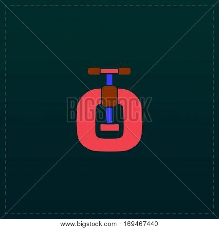 Bench vices. Color symbol icon on black background. Vector illustration