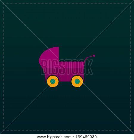Buggy. Color symbol icon on black background. Vector illustration