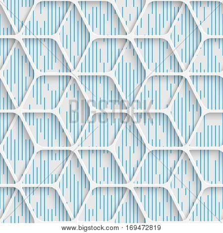 Seamless Minimal Grid Pattern. Abstract Fine Background. Futuristic Three-dimensional Wallpaper. Elegant Decorative Design