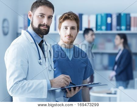 Medical Team Checking A Patient's Test Results