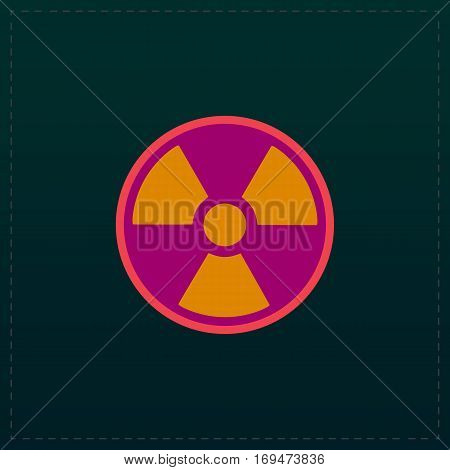 Radiation Color symbol icon on black background. Vector illustration