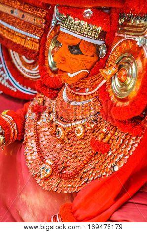 Ritual Dancer In Kerala