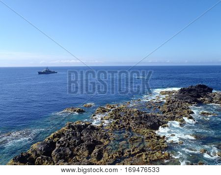 Landscape of the islanders of Formigas, Azores, Portugal
