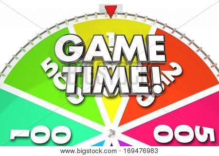 Game Time Spinning Wheel Fun Gaming 3d Illustration