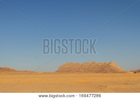 Rock Mountains in the desert near Yazd Iran