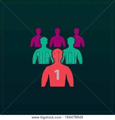 Leadership. Color symbol icon on black background. Vector illustration