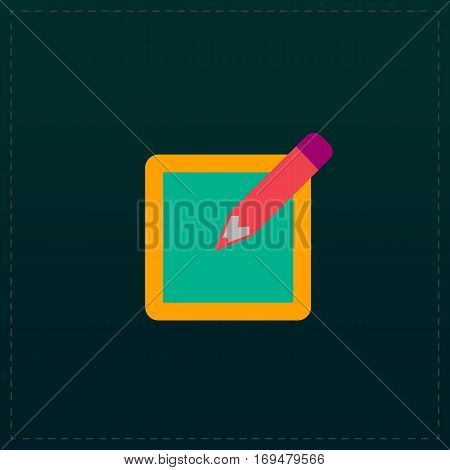 Subscribe. Color symbol icon on black background. Vector illustration