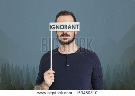 Adult Man Ignorant Beard Concept