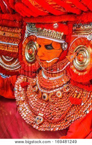 Dancer In Mask In Kerala