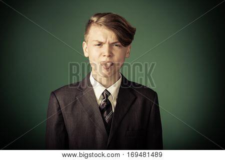 Rude Handsome Young Teenage Boy