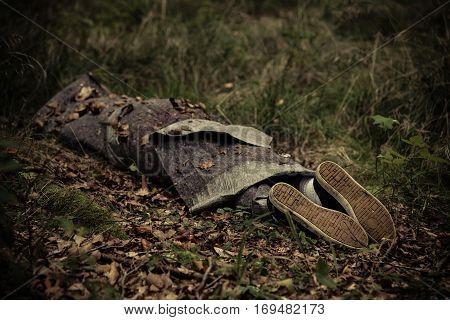 Body Of Murder Victim Hidden In Forest