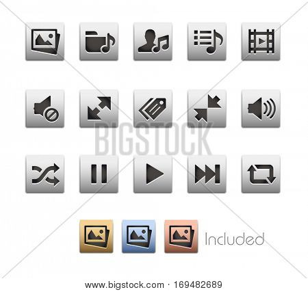 Interface Icons - The vector file includes 4 color versions for each icon in different layers