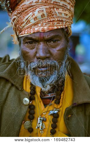 Man At Baul Festival In West Bengal