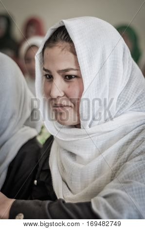 Smiling Girl In Hijab In Afghanistan