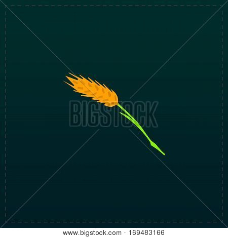 Spica. Color symbol icon on black background. Vector illustration