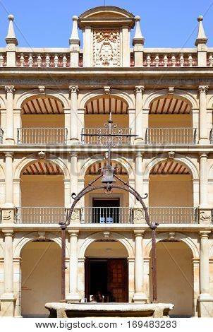 Arcs in courtyard of The University of Alcala, Spain