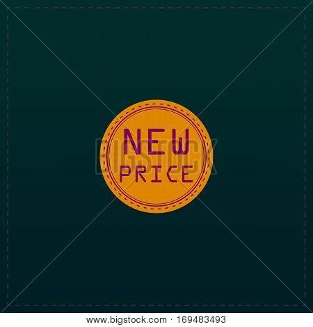 New Price Badge, Label or Sticker. Color symbol icon on black background. Vector illustration