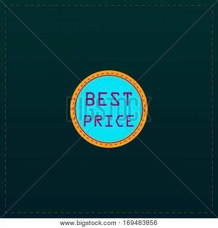 Best Price Badge Label or Sticker. Color symbol icon on black background. Vector illustration