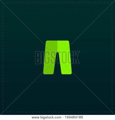 Capri pants. Color symbol icon on black background. Vector illustration