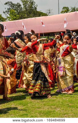 Dancing Girls In Assam