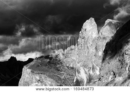 Mountain landscape in the Dolomites, Italy, Europe