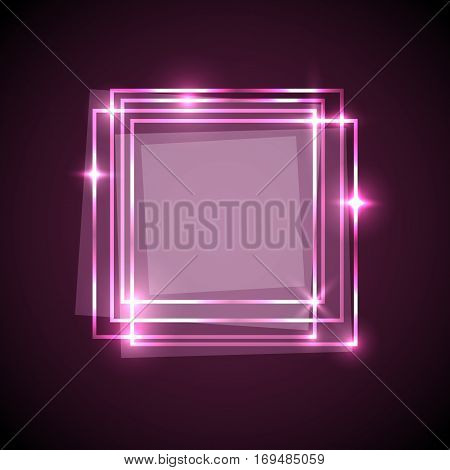 Abstract background with pink squares banner, stock vector