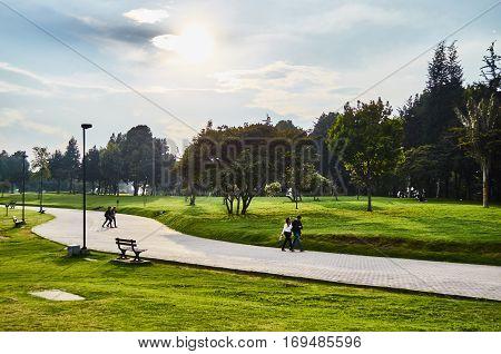 View Of Simon Bolivar Park