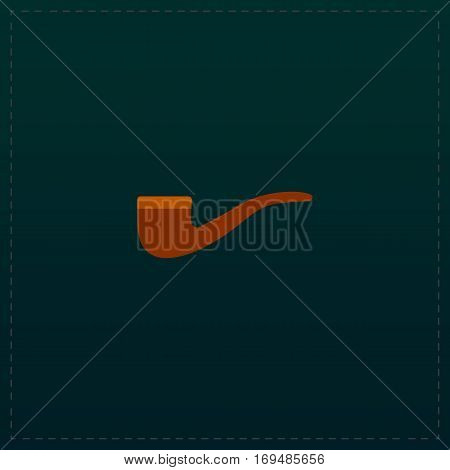 Tobacco pipes. Color symbol icon on black background. Vector illustration