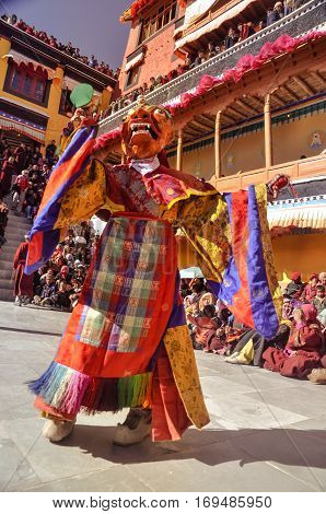 Colourful Mask In Ladakh