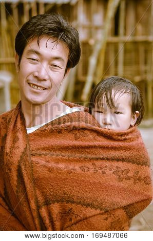 Father And Child In Arunachal Pradesh