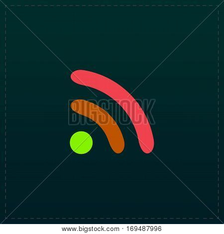 Podcast. Color symbol icon on black background. Vector illustration