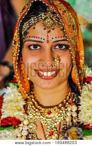 Bride With Jewellery In Rajasthan