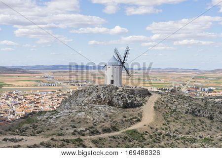 Town of Consuegra in the province of Toledo, Spain