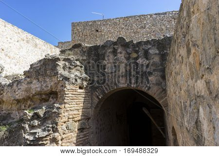 Medieval castle crypt. Town of Consuegra in the province of Toledo, Spain