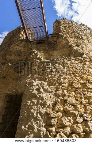 Medieval tower, Town of Consuegra in the province of Toledo, Spain