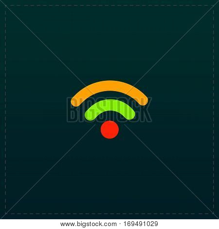 Simple Podcast. Color symbol icon on black background. Vector illustration