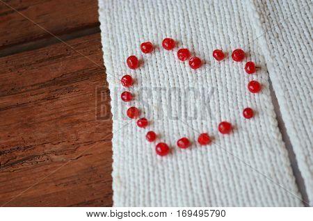 Berries In Heart Shape