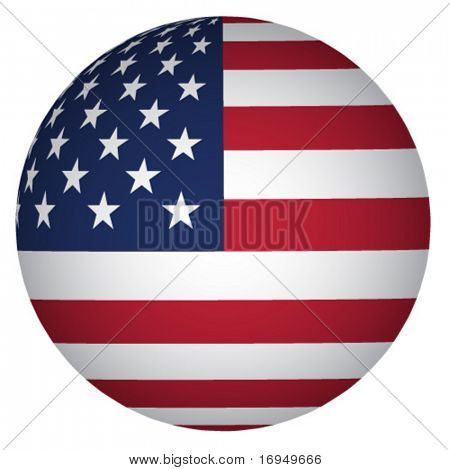 sphere USA flag